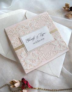 Rustic Lace Wedding Invitation Lace Wedding Invitation by JRTDaisy