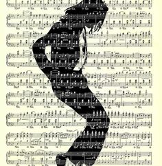 Or just go all the way with this idea and get the King of Pop! | 12 Breathtaking Examples Of Sheet Music Art