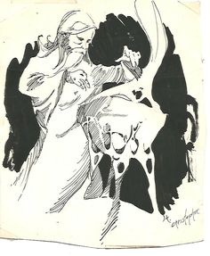 Tom Christomer Comic Art Drawing MERLIN 1969