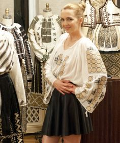 Ia Traditionala Romaneasca Romanian Girls, Hand Embroidery, Costumes, Blouse, Long Sleeve, Sleeves, Clothes, Folk, Country