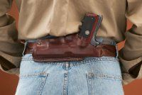 traditional belt holsters in synthetic and natural materials.