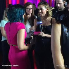 @paulhebertphoto: Demi Lovato @ddlovato on the carpet tonight at Vevo SuperFanFest being interviewed by @keltieknight