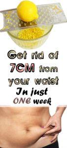 Get rid of 7 cm in just one week lemon