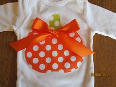 Adorable Fall/Pumpkin Onesie with matching leggings Any Size newborn to 24 months onesie or shirt size 2 4 or 6. $19.99, via Etsy.
