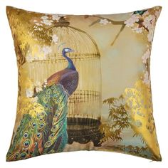 Suki Gold Foil Cushion by Arthouse - Gold : Wallpaper Direct Gold Cushions, Scatter Cushions, Throw Pillows, Shabby Chic Cushions, Navy Wallpaper, Peacock Wallpaper, Terracotta Plant Pots, Teal Background, Gold Foil Print