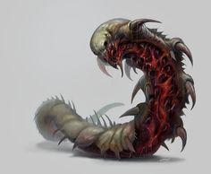 ArtStation - Demon Worm, Bobby Rebholz