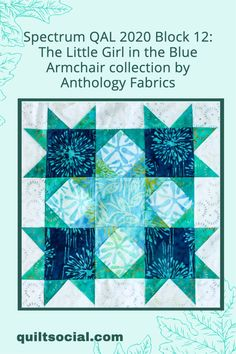 Instructions to make Block 12 of our Spectrum QAL 2020 featuring the instructions based on Claire's choice of fabrics from Anthology: Little Girl in the Blue Armchair 💙✨ #TheSewGoesOn #letsquiltalong #patchwork #anthologyfabrics #quiltingwithclaire #fabrics #QUILTsocial Quilting Patterns, Quilting Projects, Quilting Designs, Flying Geese Quilt, Blue Armchair, Learn To Sew, Craft Tutorials, Quilt Blocks, Spectrum