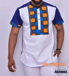 Chemises hommes African Wear Styles For Men, African Shirts For Men, African Dresses Men, African Attire For Men, African Clothing For Men, Latest African Fashion Dresses, African Print Fashion, African Print Shirt, African Print Dress Designs