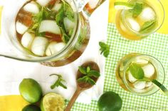 Mojito Iced Tea -- who says you have to drink your herbal tea hot? Minty and refreshing on any phase.