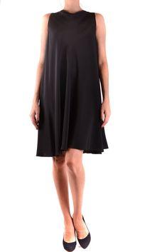 Dress Aspesi Black Pattern, Main Colors, Dress Making, Spring Summer, Silk, Formal Dresses, Composition, Color Black, Label