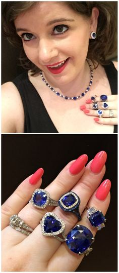 You'd have a goofy grin on your face too if you were wearing this many Omi Prive sapphires.