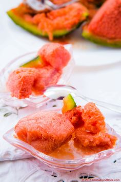 Watermelon and banana sorbet is just tantalizing, refreshing, satisfying and sooo coooollliingg to the nerves. Besides, it is a brilliant way of combining fresh watermelon and banana for a fantastic finished dessert that is so deserving to your body.
