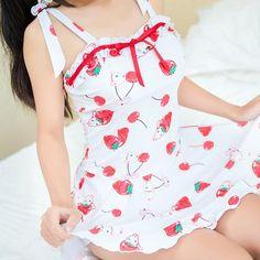 Cute Strawberry Swimsuit (swim suit) Dress SD00513