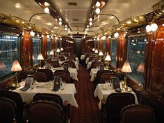 Linking some of the best cities of Europe including London, Venice, Rome, Budapest or Prague, the Orient Express is the most charming way to travel on tracks. With scores of movies, novels and romantic Hollywood scenes captured on this luxurious trip.