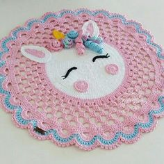 Knitting Paterns, Crochet Stitches Patterns, Baby Knitting, Crochet Cushion Cover, Crochet Cushions, Easy Crochet, Crochet Baby, Knit Crochet, Animal Rug