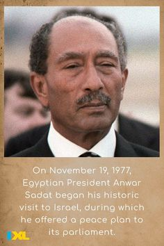 Sadat was the first Arab leader to make an official journey to Israel on his visit to promote peace #OnThisDay in 1977. #TBT