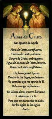 Alma de Cristo santifícame.
