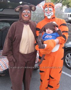 Tigger, Kanga and Roo Family Book Character Costumes