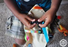 Make a DIY clipping toy for toddlers/preschoolers - so fun!