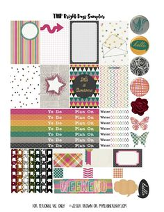 FREE Printable Various Colors Sampler for The Happy Planner and the Erin Condren…