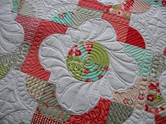 Love the pepples creating the secondary pattern around, and the wiggly lines around flower.  Jenny's Doodling Needle: April 2012