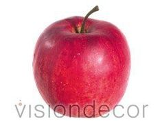 artificial Decorative Faux Fruit for Home Decor - 2.75' Gala Apple -- Read more reviews of the product by visiting the link on the image.