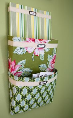 6. Fabric-Covered Mail Organizer | 23 Projects For You And Hot Glue