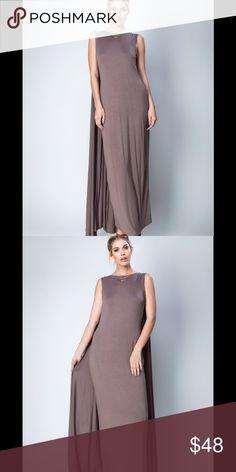 Caped maxi dress. Great summer maxi dress.  Mocha Love In Dresses Maxi