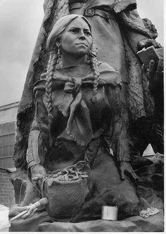 Sacajewea, Lewis & Clark Monument ,Kansas city Mo. sculptor, Eugene Daub www.eugenedaudsculpture.net