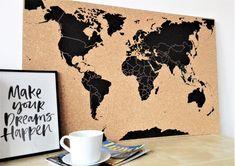 Korková Mapa světa / Zboží prodejce KUBE studio   Fler.cz Dreaming Of You, Make It Yourself, Studio, How To Make, Home Decor, Decoration Home, Room Decor, Studios, Home Interior Design