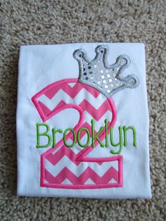 Personalized Princess Birthday Shirt Onesie 1st 2nd 3rd 4th 5th