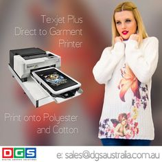 Amazing and affordable #DTG printer. @dgsaustralia www.dgsaustralia.com.au sales@dgsaustralia.com.au Now you can print your own #tshirt on the #texjetplus #tshirtprinter #print whatever you want whenever you want. Full colour + white Print direct to garment Lowest running costs Can stay idle up to 30 days #create your own #fashion wear. @dgsaustralia www.dgsaustralia.com.au sales@dgsaustralia.com.au