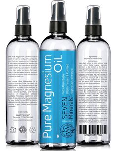 BEST MAGNESIUM OIL - Made in USA - FREE E-BOOK - BIG 12 oz - 100% Pure & Tested - SEE RESULTS OR MONEY BACK - Best Cure for better Sleep, Leg Cramps, Restless Legs, Headaches, Migraines and more!