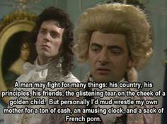 Black Adder / One of the funniest tv shows ever. British Tv Comedies, British Comedy, Blackadder Quotes, Welsh, Funny Images, Funny Pictures, British Humor, Comedy Tv, Super
