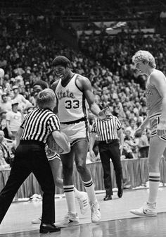 """The beginning of the Larry Bird-Magic Johnson rivalry began in 1979 when Magic and Bird met for the  NCAA Championship. It was one of the most watched games in college basketball history—at the time—and many say that  it was so anticipated that is sparked the phrase """"March Madness""""."""