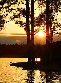 Sunset at Craighead Forest City Park in Jonesboro Arkansas