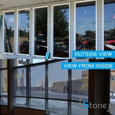 One Way Mirror Window Film Privacy Tint Home Static Solar Reflective Anti UV Mirror Window Film, Mirrors Film, Window Films, Patio Windows, Bedroom Windows, Tinted House Windows, Residential Windows, House On The Rock, House 2