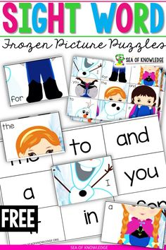 Need more ice Princess Frozen Sight Word Worksheet Puzzles? Look no further, these super cute printables are easy to use and practically no prep perfect for preschoolers and kinders. Sight Words Printables, Sight Word Worksheets, Sight Word Games, Sight Word Activities, Word Puzzles, Reading Activities, Preschool Activities, Guided Reading, Frozen Activities