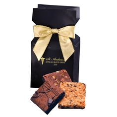 Packed with three fudge-like Gourmet Brownies--Double Chocolate, Chocolate Pecan & Chocolate Butterscotch Coconut--these fashionable packages make a great thank you gift.