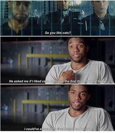 Be the bigger man, T'Challa we love you