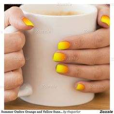 Summer Ombre Orange and Yellow Sunset Minx® Nail Art   http://www.zazzle.com/summer_ombre_orange_and_yellow_sunset_minxnailart-256712985480545581?view=113726642434075667&rf=238131122326441689