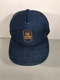 c0b8eef2d VINTAGE FARM MASTER DENIM MESH SNAP BACK FARMER - TRUCKER HAT / NICE  #fashion #