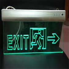 Image result for illuminated fire exit signs