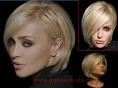 Paola Barale Bob Hairstyles, Wedding Hairstyles, Short Hair Cuts, Short Hair Styles, Stylish Short Hair, Girls Short Haircuts, Haircut And Color, Hair 2018, Great Hair
