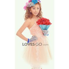 puro y elegante dulce romance de color rosa pálido en tres dimensiones... ($56) via Polyvore