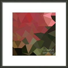 Brunswick Green Abstract Low Polygon Background Framed Print By Aloysius Patrimonio