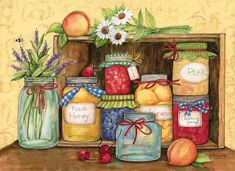 Susan Winget American Kitchen 2019 Wall Calendar American Kitchen Wall Calendar The American Kitchen Wall Calendar features artwork by . Vegan Food List, American Kitchen, Calendar Wallpaper, Embossed Paper, Pintura Country, Country Paintings, Decoupage Paper, Kitchen On A Budget, Book Gifts