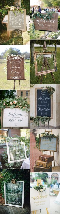 rustic vintage wedding sign decoration ideas