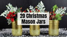 20 Magical Christmas mason jars that you can yourself this holiday! These Christmas mason jars are perfect for home decor, or even gifts! Dollar Store Halloween, Easy Halloween, Halloween Treats, Halloween Party, Halloween Decorations, Fall Crockpot Recipes, Soup Recipes, Crockpot Meals