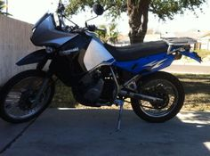 2008 Kawasaki KLR 650 Dual Sport , blue/silver, 10,571 miles for sale in Laredo, TX
